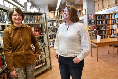 PÅ PLASS I ELVERUM: Mari Elida Eikeland (til venstre) og Idun Ribe Hovrud kommer rett fra skolebenken til hvert sitt vikariat i Elverum.