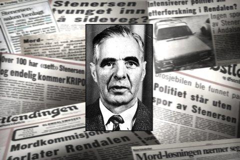 STENERSEN-SAKEN: Drosjesjåfør Gudmund Stenersens forsvinning i 1972, har vært en av norgeshistoriens største krimgåter. Nå er boka «Historien om Stenersen-saken» på markedet. Fotomontasje: Anita Høiby Gotehus