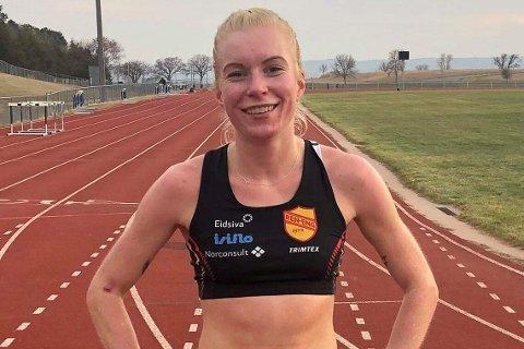 I FORM: Ida Meli Narbuvoll imponerer stort i USA om dagen. Nordøsterdølens sterke 10.000-metertid var karrierebeste.