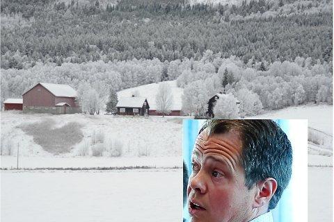 STOR EIENDOM: Landbrukseiendommen Aalborg framstår som en betydelig eiendom i jordbruket på Fåset. Jakob Nordstad klager på vedtaket om at han ikke får kjøpe gården.