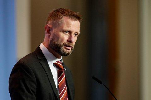 Helse- og omsorgsminister Bent Høie under pressekonferanse om koronasituasjonen onsdag.