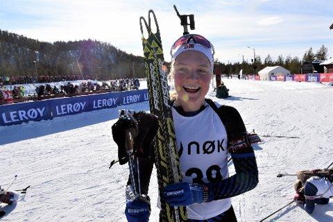 TOK MULIGHETEN: I sitt siste individuelle løp som junior gikk Randi Sollid Nordvang inn til sølv.