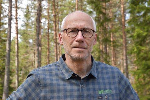 FORNØYD: Endre Jørgensen er daglig leder i Løiten Almenning, som har store planer for å utvikle Budor Sør.