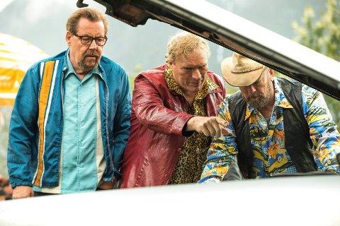 KINOVINNER: «Børning 3» ble en kinovinner i et ellers vanskelig kinooår. Fra venstre Otto Jespersen, Sven Nordin og Geir Schau.