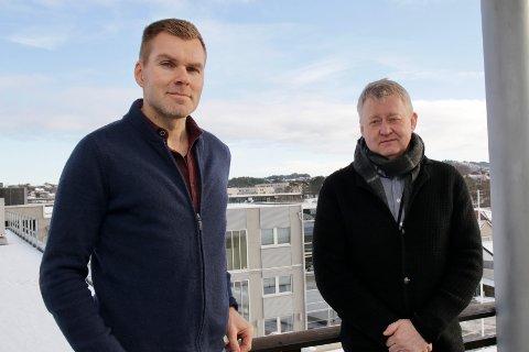 TROR PÅ FLEKSIBILITET: Leder for forretningsutvikling Kristian Gautesen og direktør John Harald Jakobsen i iHaugaland Kraft Energi tror strømmarkedet blir mer fleksibelt i framtiden.