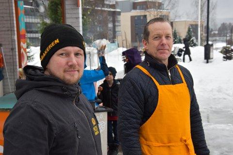 MART'N: Leder i Sentrumsforeningen, Christian Eckbo (tv) og daglig leder i Thomas Tivoli, Arne Grønnesby, håpet i det lengste at det skulle bli mart'n.
