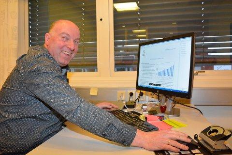Gliser i banken: Øysten Snuggerud, administrerende direktør i Næringsbanken