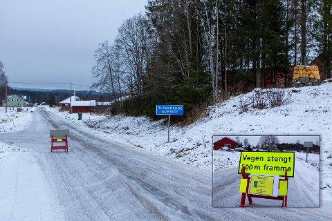 STENGT: Grensen mot Sverige vil fortsatt bli stengt en god stund framover. Bildet er fra Kjerret i Kongsvinger kommune.