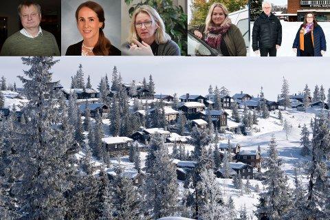 SAMSTEMTE: Ordførerene i flere kommuner vil ønske turister velkommen. Her fra venstre: Even Moen (Stor-Elvdal), Linda Døsen (Rendalen), Merete Myhre Moen (Tynset), Marte Larsen Tønseth (Løten) og Erik Sletten (Trysil) og Line Storsnes (Engerdal)