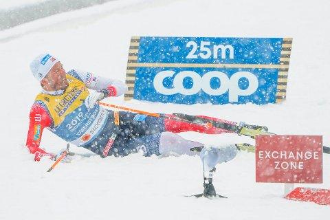 BLE AVGJØRENDE: Emil Iversen ble helt avgjørende for at Norge tok VM-gull i herrestafett.