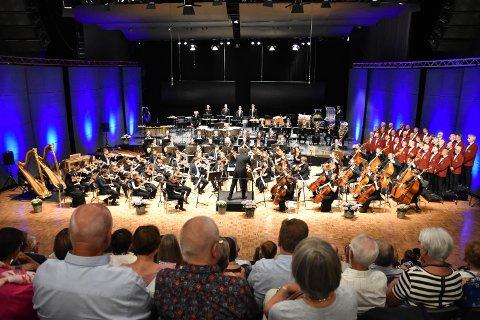 FØR KORONA: Ungdomssymfonikerne sin siste normale konsert i 2019 før koronaen gjorde sitt inntog.
