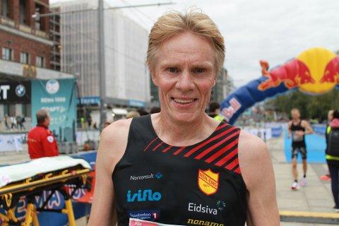 STERK: Jon Per Nygaard imponerte i Oslo Maraton. Nå kan det bli VM-deltakelse på den tidligere skiskytteren fra Øversjødalen.