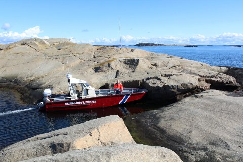 Skjærgårdstjenesten på sjøen i sommer.