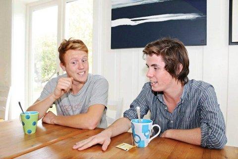 Anton Blom Onshuus og Henrik Støren vant kulturprisen på Tjøme i fjor.