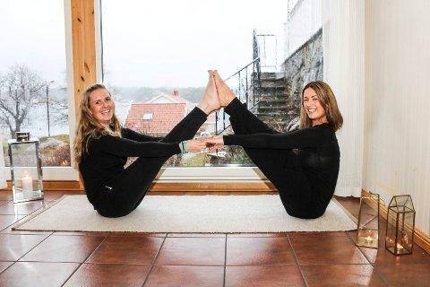 setter i gang et sosialt treningsfellesskap: Cathrine Gjessing og Annelise Mørken starter opp Vårt Yogarom, der de håper mange jenter i alle aldere vil være med for å lære yoga av hverandre. Kollektivet skal være et dugnadsfellesskap der alle bestemmer tid og innhold sammen. Foto: NIna Therese Blix