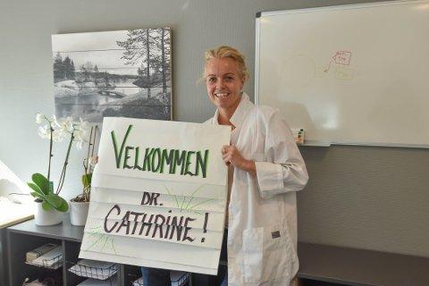 NYANSATT: Cathrine Abrahamsen ble ansatt på Nøtterøy Legesenter 1. september.