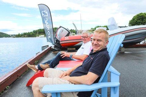 REKORDÅR, ÅR FOR ÅR: Bjørn Ove Stag og Jørn Hennig, som eier Vrengen maritime har all grunn til å smile etter sommeren.