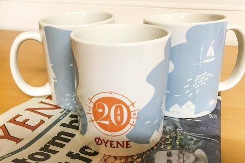 Øyene-kopper med eget jubileumsdesign i begrenset opplag.