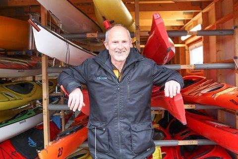 Eyvin Bjørnstad er leder i Havpadlerne Færder, som med tiden har blitt 400 medlemmer sterke.