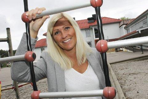 Rektor: Annette Schømer leder en skole der bygningsmassen er blitt gjort mye med de siste årene, men fortsatt gjenstår det noe.