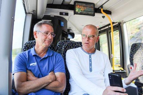 Jon Sanness Andersen og Tom Mello har ulike planer for arealet på Kaldnes vest.