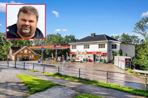 MANGE LURTE: Jan Thomas Låhne forteller at han fikk flere henvendelser på om driftsselskapet bak bensinstasjonen var til salgs.