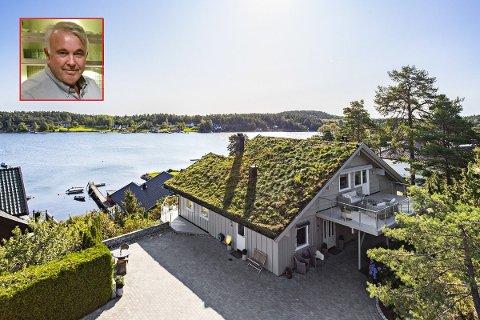 SELGER: I dette huset i Bjerkøveien på Nesbrygga har Oddvar Kristiansen bodd i 19 år. Nå er det til salgs.