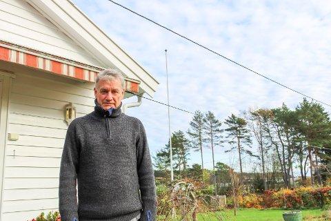 Tom Ravndal har hytte i Flekkenveien på Tjøme.