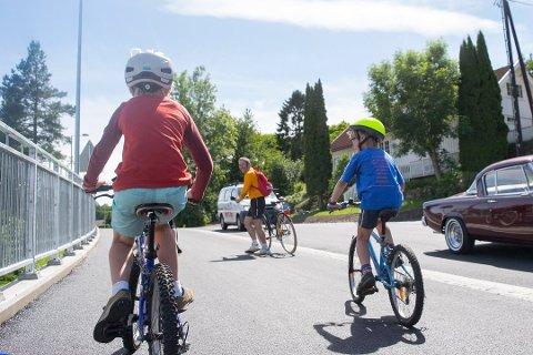Sykkelstien mellom Feierskauen og Grimestad var et populært tiltak, men folk her ønsker seg mer sykkelsti. Foto: Ivar Benjamin Østebø