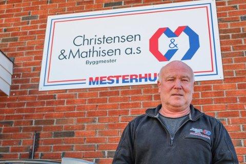 I VEKST: Bjørn Johnsen, daglig leder hos Christensen & Mathisen AS, mener at gode innkjøpsbetingelser og dyktige ansatte er grunnen til at de vinner anbudsrunder.