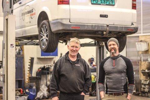 VOKSER: Eierne Tom Nilsen (til venstre) og Tom Terjesen kan være fornøyde med utviklingen til Drift og Vedlikehold AS.