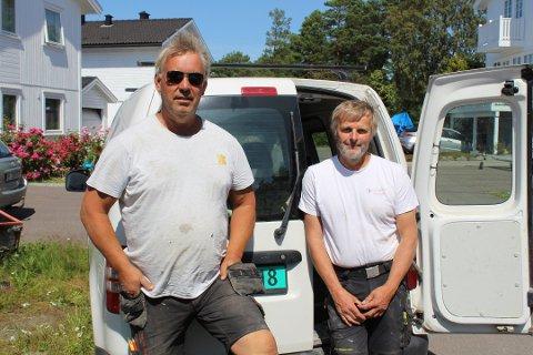 GODT MED JOBBER: Geir Eriksen og Frede Nymoen samlet enkeltpersonforetakene sine til ett og samme aksjeselskap i 2005.