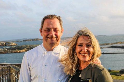 May-Lis og Remi Hallvig på Restaurant Verdens Ende Spiseriet benytter muligheten til å pusse opp litt nå de er stengt. De er optimistiske for sesongen når det etter hvert åpner opp igjen.