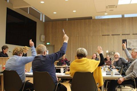 I hovedutvalg for kommunalteknikk ble det flertall for Brua-planene med 185 nye boliger. Dette bildet er fra et tidligere møte da utvalget møttes fysisk, mens nå pågår møtene fortsatt digitalt på grunn av korona.