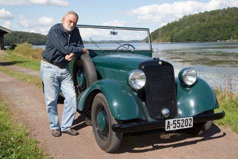 Reidar Lohne med Florrie, som var hans russebil i 1969.