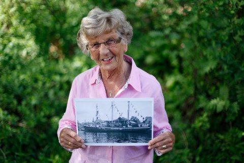 Bjørg Johannessen fikk både mat, vennskap og familie med det danske skipet «Sine» som kom til Porsgrunn 4. juni 1945.