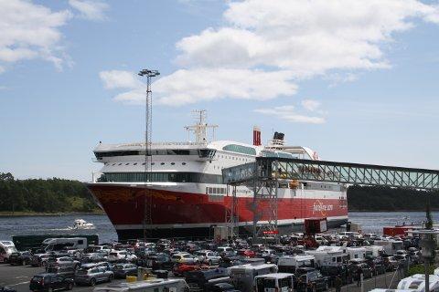 MS Stavangerfjord, her avbildet til kai i Langesund.
