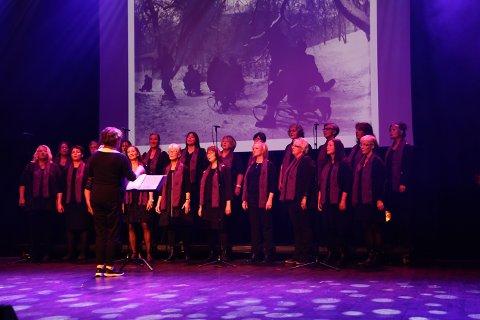 Koret Andante framførte tinesatte dikt av Rudolf Nilsen og Bjørg Vik.