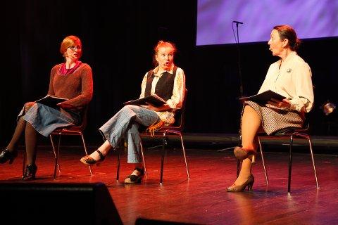 Kjersti Høgli, Thomine Bjønnes og Geddy Aniksdal leste utdrag fra hørespillet Døtre.
