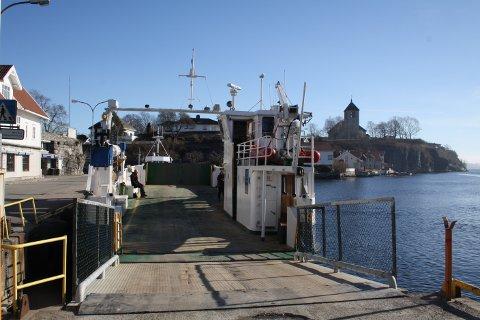 Søndag kveld mistet bilferga «Oksøy» propellen. Ferga ligger nå til reparasjon hos Hansen & Arntzen på Ekstrand.