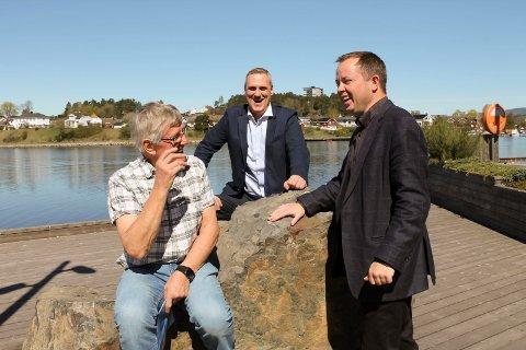 Herøya-ildsjelene Jan Hovinbøle og Gordon Kleppe gleder seg til bydelsmøte med Robin Kåss på Herøyahuset 10. mai.