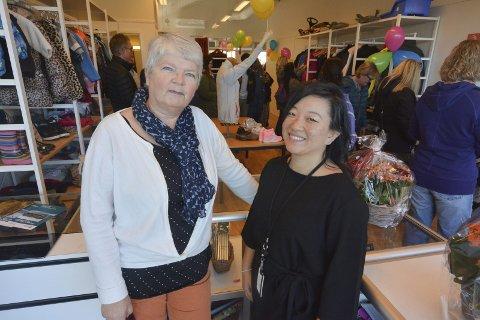 GLEDER SEG: Kari Mette Ringdal og Hege Mathisen gleder seg til å komme skikkelig i gang med drifta av Secundus Sport og Fritid.