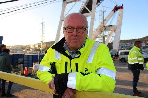 MILJØ-HAVN: Havnedirektør Finn Flogstad i Grenland Havn sier at Breviksterminalen får installert landstrøm i løpet av februar 2019. Havnene skal være med på et løp fram mot bærekraftig sjøtransport.