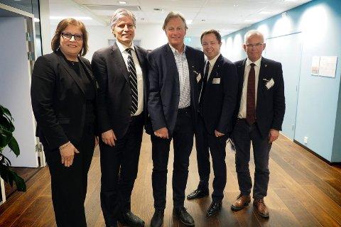Møtet: Anne Karin Alseth Hansen, Ola Elvestuen, Åge Frisak, Robin Kåss og Per Wold.