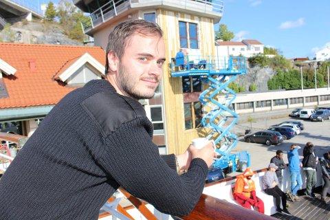 Sondre Ljungstrøm fra Ulefoss er dekkskadett på skoleskipet Sjøkurs og skal bli styrmann.