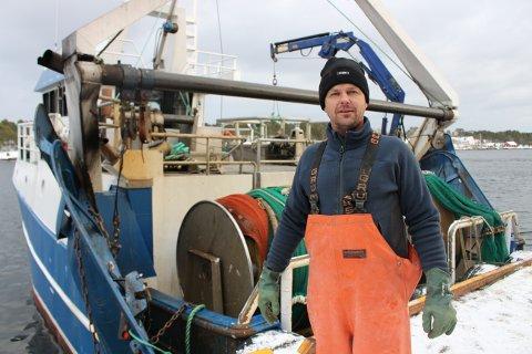 Rekefisker Trond Eriksen har fått dårlig rekefangst med fisketraleren «Silje Kristina» de to siste dagene. Fredag ble det bare 100 kilo ferske reker å levere til Langesundfisk.