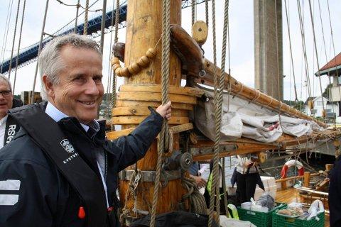 INNSEILING: Geir Solberg i Kystverket Sørøst var prosjektleder i forprosjektet for «Innseiling Grenland». Han svarer på spørsmål omkring grunneieren på Gjeterøya som er kritisk til prosessen.