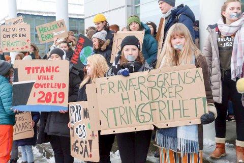 KLIMA: Barn og ungdommer over hele landet demonstrerer i disse dager for verdens framtid.