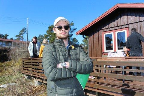 Matias Ree (22) kjørte helt fra Hamar sammen med mor, far og søster. 22-åringen gleder seg til at de skal få egen familiehytte.