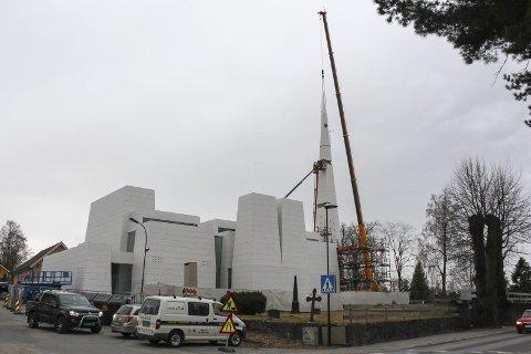 Snart ferdig: Slik framstår den nye kirken «Reis opp» på kirkehaugen nå.